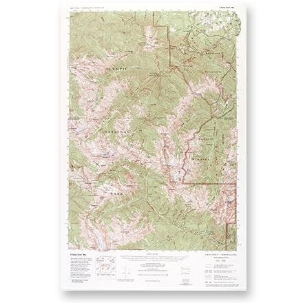 Large-scale, topographic map of the Gray Wolf/Dosewallips area of Olympic National Park and Buckhorn Wilderness. - $5.58