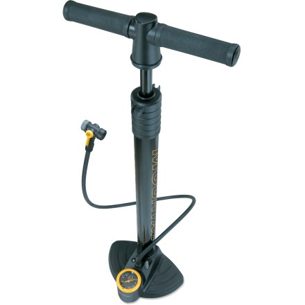 MTB The Topeak JoeBlow(TM) Mountain floor pump features a massive barrel built to fill large-volume mountain bike tires quickly and accurately. - $36.93