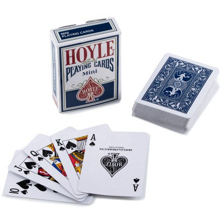 Camp and Hike This deck of miniature playing cards is easy to pack on backpacking trips. Design preserves the nostalgia of classic playing cards. - $3.00