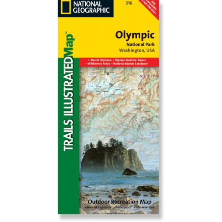Camp and Hike The colorful Trails Illustrated Olympic National Park trail map offers detailed coverage of the Olympic Mountains in Washington State. - $11.95