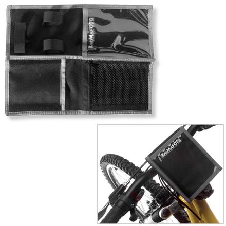 Fitness This folding handlebar map holder attaches easily to bike handlebars for easy navigation on new trails and roads. - $9.93