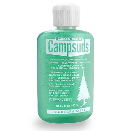 Camp and Hike This all-purpose, biodegradable soap in a compact bottle works in hot, cold or salt water to wash just about anything. - $3.95