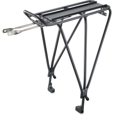 Fitness This Topeak Explorer 29er rear rack design accommodates disc brakes on your 29er and works great for everything from loaded touring to commuting to around-town errands. - $54.95