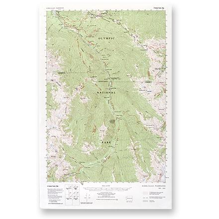 This topographic trail map to the Elwha Valley of Olympic National Park is a highly detailed reference for route finding. - $1.93