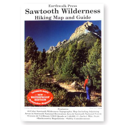 Camp and Hike Six-color, 100% waterproof/tearproof material Sawtooth Wilderness (Idaho) topographic map - $9.95