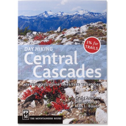 Camp and Hike Day Hiking: Central Cascades offers 125 hikes near Steven's Pass, the Alpine Lakes Wilderness and Lake Wenatchee that are appropriate for all abilities. - $18.95