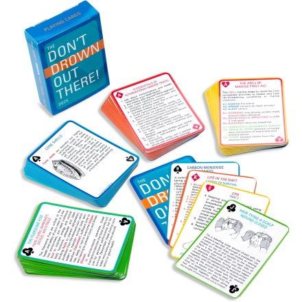 Ante up while you brush up on basic marine survival. The Don't Drown Out There!- Deck of Cards offers tips on water safety. - $3.93