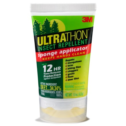 Camp and Hike 3M Ultrathon Sponge-Top insect repellent goes on easily to provide all-day relief from biting insects. - $10.50
