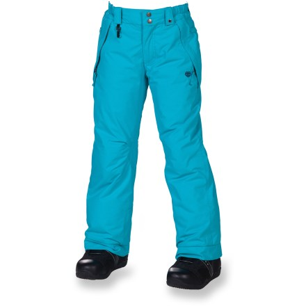 Ski The 686 Mannual Brandy insulated pants help keep snow-loving girls warm, dry and snazzy on their rides down the mountain. - $24.83