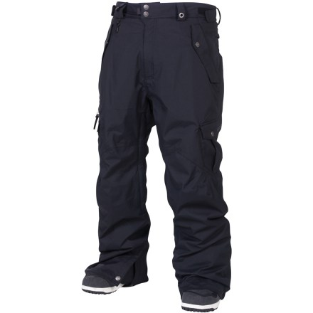 Snowboard The tall-length Smarty Original Cargo 3-in-1 insulated pants from 686 take you to the mountain with full protection from the elements. Nylon shell features INFIDRY-20(TM) waterproof, breathable coating and fully taped seams for a robust waterproof construction. Zip-out 250g fleece liner pants can be paired with shell pants for the ultimate in warmth and weather protection, or either layer can be worn solo in appropriate weather. Ventilate on the fly with leg vents; mesh gussets prevent snow from sneaking in when vents are open. Articulated knees improve comfort and range of motion; waistband tabs customize fit. Lower leg openings expand in a snap for easy on and off. Integrated leg gaiters keep snow from sneaking into your boots; compatible with Boa(R) Lacing System boots. Includes pant-to-jacket powder skirt connection points to hook up to compatible jackets. Goggles chamois cloth included. Keep small essentials close at hand with thigh cargo pockets, zippered thigh pocket, small waist stash, back pocket and lower leg stash. Front hip pockets on the Smarty Original Cargo 3-in-1 insulated pants from 686 feature key clip and glove loop attachments. - $163.93