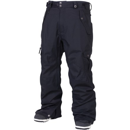 Snowboard The 686 Smarty Original Cargo 3-in-1 insulated pants are built for epic winter conditions. Short-length inseam ensures your cuffs won't drag on the ground. Nylon shell features INFIDRY-20(TM) waterproof, breathable coating and fully taped seams for a robust waterproof construction. Zip-out 250g fleece liner pants can be paired with shell pants for the ultimate in warmth and weather protection, or either layer can be worn solo in appropriate weather. Ventilate on the fly with leg vents; mesh gussets prevent snow from sneaking in when vents are open. Articulated knees improve comfort and range of motion; waistband tabs customize fit. Lower leg openings expand in a snap for easy on and off. Integrated leg gaiters keep snow from sneaking into your boots; compatible with Boa(R) Lacing System boots. Includes pant-to-jacket powder skirt connection points to hook up to compatible jackets. Goggles chamois cloth included. Keep small essentials close at hand with thigh cargo pockets, zippered thigh pocket, small waist stash, back pocket and lower leg stash. Front hip pockets on the short Smarty Original Cargo 3-in-1 insulated pants from 686 feature key clip and glove loop attachments. - $163.93