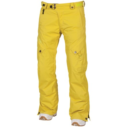 Snowboard The women-specific 686 Smarty Original Cargo 3-in-1 insulated pants are built for snow-filled adventures. Nylon shell features INFIDRY-15(TM) waterproof, breathable coating and fully taped seams for a robust waterproof construction. Zip-out 250g fleece liner pants can be paired with the shell pants for the ultimate in warmth and weather protection, or either layer can be worn solo in appropriate weather. Ventilate on the fly with leg vents; mesh gussets prevent snow from sneaking in when vents are open. Articulated knees improve comfort and range of motion; waistband tabs customize fit. Lower leg openings expand in a snap for easy on and off. Integrated leg gaiters keep snow from sneaking into your boots; compatible with Boa(R) Lacing System boots. Includes pant-to-jacket powder skirt connection points to hook up to compatible jackets. Goggles chamois cloth included. Keep small essentials close at hand with thigh cargo pockets, zippered thigh pocket, small waist stash, back pocket and lower leg stash. The Smarty Original Cargo 3-in-1 insulated pants from 686 feature key clip and glove loop attachments. - $159.93
