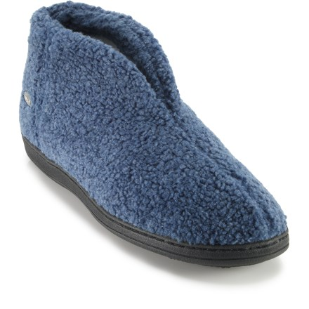 Entertainment The women's Acorn Cozy Bootie slippers are just what you need after a long day on your feet. - $19.73