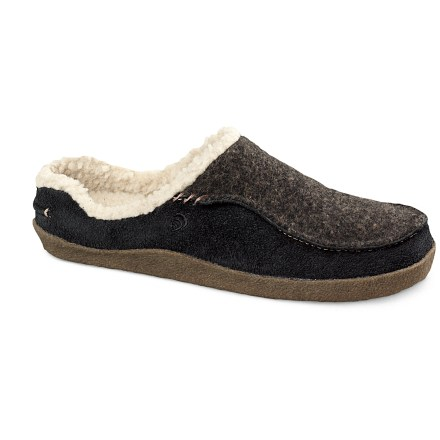 Entertainment Slip on the incredibly comfortable Acorn Odin slippers and experience pure bliss. Water-resistant suede and Italian wool blend tweed uppers are soft and flexible. Fully lined with cozy sherpa polyester fleece for ultimate comfort and warmth. High-density, heel-to-toe comfort foam insoles with raised EVA heel wedge deliver stability and support. Natural crepe rubber outsoles supply non-slip traction, indoors and out. Closeout. - $26.83