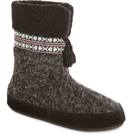Entertainment With more coverage than most, the Acorn Snowline Boot slippers feature tall wool blend uppers and soft, warm fleece linings to supply plenty of cozy comfort. - $15.83