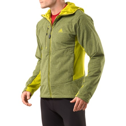 Camp and Hike The adidas Hiking Fleece hoodie is a great choice for warmth on the trail, or after-activity lounging. - $51.73