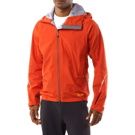 Entertainment The adidas Terrex Gore-Tex(R) Active Shell jacket keeps athletes protected from sudden changes in the weather. Durable polyamide fabric features a Gore-Tex Active Shell waterproof breathable membrane that keeps you dry. 3-layer Gore-Tex Active Shell fabrics brings the weight down and adds durability to high-wear areas. Polyamide lining easily slides over base layers. FORMOTION(TM) construction allows jacket to move naturally with you. Hood with volume adjustments customizes the fit; hood is helmet compatible. The adidas Terrex Gore-Tex Active Shell jacket features rip-and-stick adjustable cuffs, zippered handwarmer pockets and reflective hits. Droptail hem offers more coverage. Closeout. - $201.73