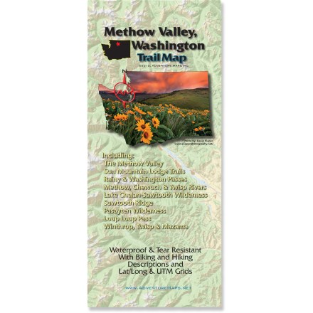 Camp and Hike Accurate and easy to read, the Methow Valley trail map covers the best biking, hiking and skiing that north central Washington State has to offer. - $12.98