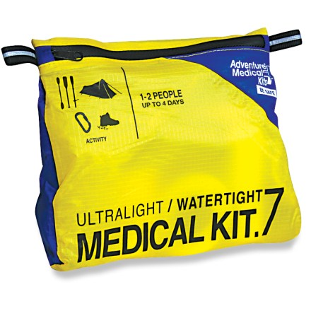 Camp and Hike Pared down to a weight-saving bare minimum, this Adventure Medical Ultralight / Watertight .7 first-aid kit contains the most essential supplies. - $26.95