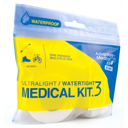Camp and Hike Carry the compact Adventure Medical Ultralight / Watertight .3 first-aid kit on 1- to 2-day solo trips when you require just the essentials. - $8.95