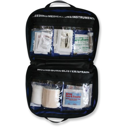 Camp and Hike The Adventure Medical Kits Mountain Day Tripper first-aid kit packs all the essentials for 1 - 5 people for multiple days. - $32.95