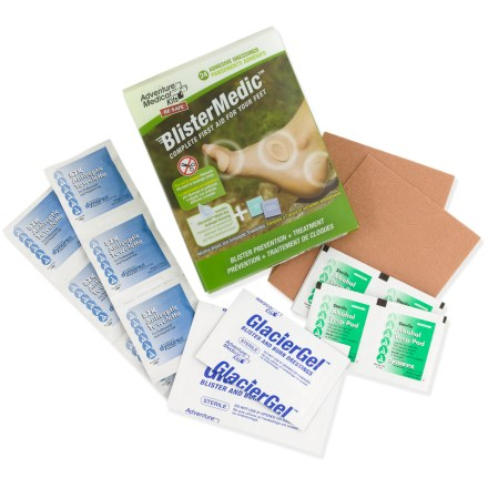 This compact kit contains everything you need to care for blisters on the trail. - $9.95