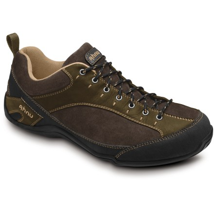 These casual Ahnu Belgrove II shoes are built for all-day comfort, whether traipsing the town or trekking abroad. Nubuck leather and suede leather uppers ensure lasting, everyday performance; subtle contrast stitching offers a touch of style to the rich leather construction. Polyester mesh linings wick moisture, dry quickly and breathe well for enhanced comfort. Combo polyurethane/EVA midsoles offer lightweight cushion for all-day comfort. Nylon shanks supply midfoot stability and torsional rigidity, providing support for daily adventures. Carbon rubber outsoles on the Ahnu Belgrove II shoes deliver good traction for everyday use. - $83.93