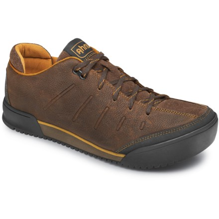 These casual Ahnu Kirkham shoes are rugged sneakers worthy of both pavement and the trail. Nubuck and suede leather uppers ensure lasting, everyday performance; embossed details offer a touch of style to the rich leather construction. Polyester mesh linings wick moisture, dry quickly and breathe well. Polyurethane/EVA midsoles consist of a thick, shock absorbing bottom layer, a U-shape heel stabilizer and a cushy top layer of memory foam. Nylon shanks supply midfoot stability and arch support for daily adventures. Carbon rubber outsoles on the Ahnu Kirkham shoes deliver good traction for everyday use. - $61.83