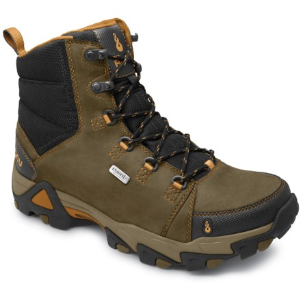 Camp and Hike The Ahnu Coburn Waterproof hiking boots boast stout protection from the elements, sturdy leather construction and good support for worry-free performance through the miles. - $81.83