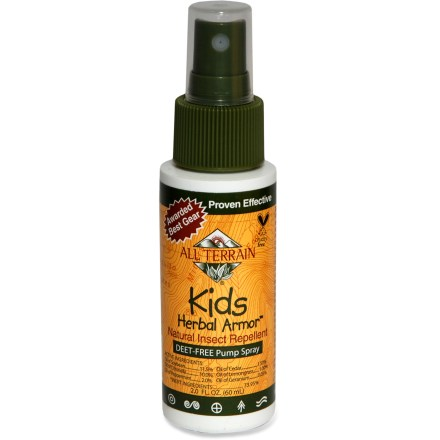 Camp and Hike Packaged in an easy-to-use spray bottle, the All Terrain Kids' Herbal Armor insect repellent is perfect for families who demand effectiveness but don't want DEET. - $3.93