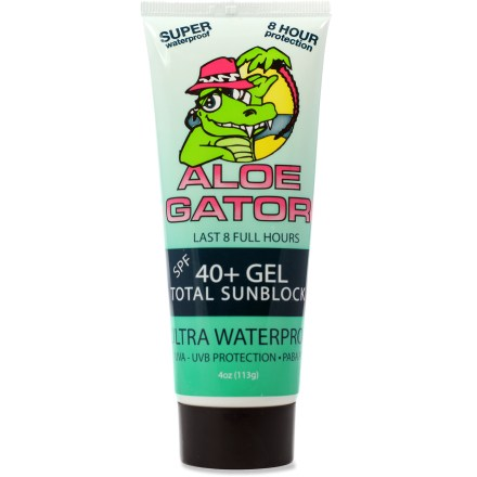 Camp and Hike This water-resistant and sweat-resistant Aloe Gator sunscreen gel lasts 8 hrs. for days spent in and out of the water. - $11.95