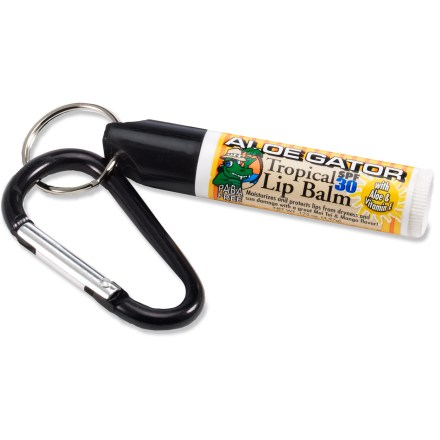 Camp and Hike Aloe Gator Tropical SPF 30 lip balm protects your lips from dryness and sun damage. - $3.00