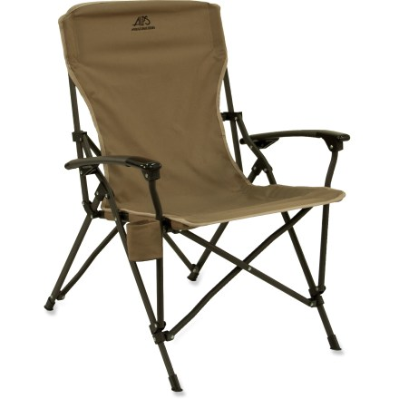 Camp and Hike The ALPS Mountaineering Leisure chair brings the comfort of your living room to the campsite. Honeycomb polyester seat and powder-coated steel frame make this chair as durable as it is comfortable. Compact design folds up to let you store it almost anywhere. Side pouch keeps a beverage or other small necessities handy. Special buy. - $34.83