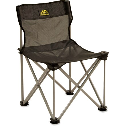 Camp and Hike Bring the comfort of your living room to the campsite with the ALPS Mountaineering Adventure chair. PVC-coated polyester mesh seat and powder-coated steel frame make this chair just as durable as it is comfortable. Compact design folds up to let you store it almost anywhere. Special buy. - $24.83