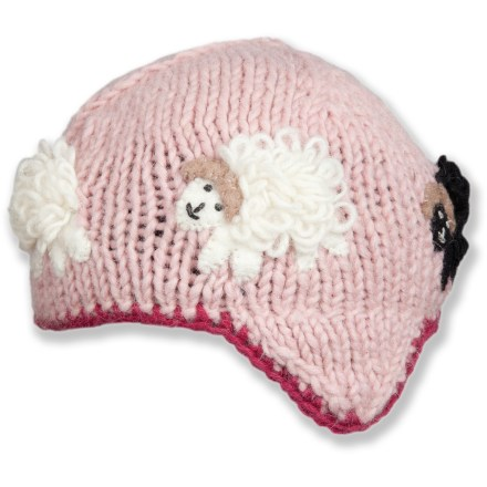 Entertainment The adorable Ambler Wooly hat reflects the spirit of your little girl: unique, colorful and good at making you smile. Warm wool hat features soft fleece lining. Hand wash with cold water; air dry. - $13.83