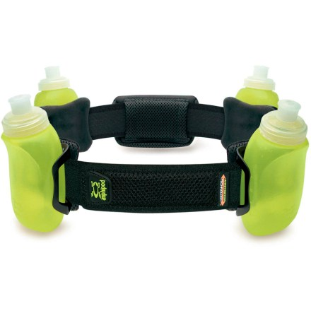 Camp and Hike The Amphipod RunLite AirStretchTM 4 hydration belt offers breathable comfort in a hip-gripping design. Chafe-free edging and rip-and-stick front closure make it a breeze to wear while on the run. - $19.83