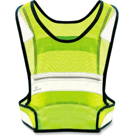 Fitness Let passing traffic know you're out there with the Amphipod Full-Visibility reflective vest. - $29.95