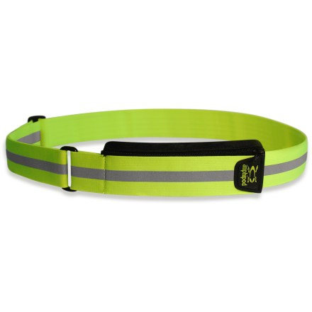 Fitness Be seen by passing cars with the Amphipod 360deg Full-Viz(TM) reflective belt. Lightweight belt provides bright reflectivity to increase your visibility. Roomy integrated pocket measures 4.5 x 2 x 0.5 in. to hold a small digital music player, credit cards, ID, cash and a house key. Stretchy Amphipod 360deg Full-Viz reflective belt is fully adjustable to fit most waist sizes; measures 43 in. in length. - $9.83