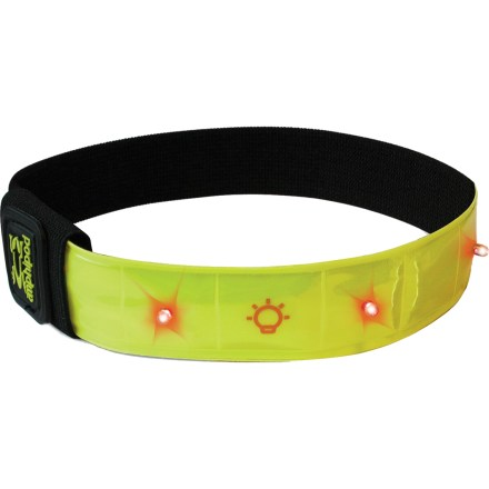 Fitness The Amphipod Micro-Light Flashing reflective armband attaches to just about anything to keep you visible during nighttime activities. - $15.95