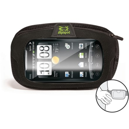 Fitness Slip the Amphipod Beltpod SmartView(TM) Plus cell phone pocket on your belt to keep your smartphone or digital music player within reach while you're running, walking and hiking. - $8.93