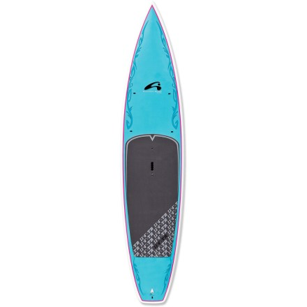 Wake A little sister to the longer, 12 ft. 6 in. model, the Amundson TR 11 ft. 4 in. stand up paddleboard offers glide, speed and stability without too much weight. Ideal for paddlers up to 160 lbs., the 11 ft. 4 in. Amundson TR stand up paddleboard is a great board for fitness and fun. Shaped to enhance balance and comfort on the water, the 11 ft. 4 in. TR excels at flatwater touring. Epoxy and fiberglass layered over an EPS foam core creates lightweight flotation with high durability. You'll have an easy time staying on the board thanks to the high traction of the 3mm EVA deck pad. Pronounced V-shaped nose cuts through chop and smooths out the ride. Vertical rails and a flat bottom enhance stability and tracking. Grip and carry the 27 lb. board at the center of the board with the heavy-duty molded handle. - $1,146.93