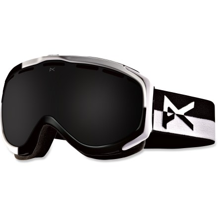 Snowboard The stylish Anon Hawkeye Premium snow goggles deliver excellent optical performance and top-level design elements to keep you shredding through the season. Frames are made from thermoplastic polyurethane for high abrasion resistance, consistent flexibility in changing temperatures and superior elasticity that fits all face shapes. Dual injection-molded, spherical lenses mimic shape of human eye to offer clear, undistorted views of scenery and terrain. Antifog treatment combats lens fogging, delivering clear vision in changing weather. 2-layer face foam with moisture-wicking fleece provides a soft, comfortable seal against the elements. Channeled, full-perimeter venting optimizes airflow to minimize fogging. Dark Smoke lens has a dark gray tint to maintain color definition on super-bright days; allows 6% visible light transmission. Helmet-compatible design features strap hinges that pivot to ensure a flush, comfortable fit that minimizes gaps and promotes ventilation. As part of the Anon Premium series, the Hawkeye Premium snow goggles feature the latest in high-resolution graphics and detailed finishes. - $77.83