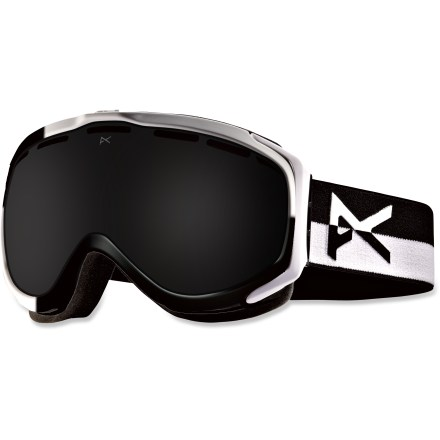 Snowboard Anon Hawkeye Premium Asian Fit snow goggles feature clear, precise lenses, supreme style and a fit optimized for those with low-profile nose bridges and flat facial features. Frames are made from thermoplastic polyurethane for high abrasion resistance, consistent flexibility in changing temperatures and superior elasticity that fits all face shapes. Dual injection-molded, spherical lenses mimic shape of human eye to offer clear, undistorted views of scenery and terrain. Antifog treatment combats lens fogging, delivering clear vision in changing weather. 2-layer face foam with moisture-wicking fleece provides a soft, comfortable seal against the elements. Channeled, full-perimeter venting optimizes airflow to minimize fogging. Dark Smoke lens has a dark gray tint to maintain color definition on super-bright days; allows 6% visible light transmission. Helmet-compatible design features strap hinges that pivot to ensure a flush, comfortable fit that minimizes gaps and promotes ventilation. As part of the Anon Premium series, these goggles feature the latest in high-resolution graphics and detailed finishes. Fit of the Anon Hawkeye Premium Asian Fit goggles has been optimized to offer a good seal around the face for those with low-profile nose bridges and flat facial features. - $77.83