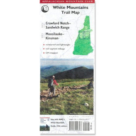 This Appalachian Mountain Club trail map lets you explore the White Mountain National Forest armed with the latest information packed into a waterproof package. - $9.95