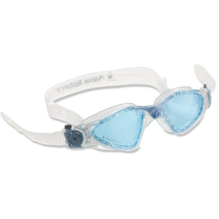 Fitness The Aqua Sphere Kayenne Lady Blue Lens swim goggles reduce glare and offer excellent visibility in bright, outdoor light. - $27.95