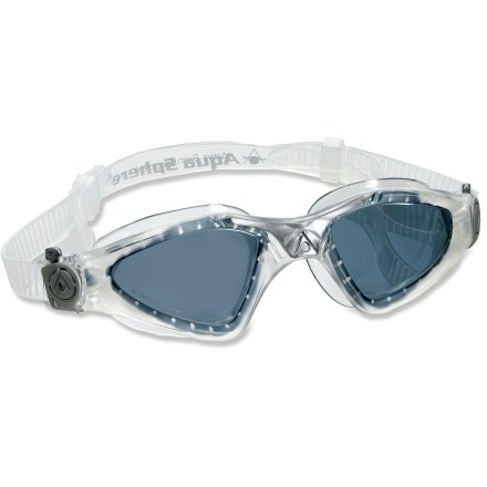 Fitness The Aqua Sphere Kayenne Smoke Lens swim goggles use oversize lenses to enhance visibility. - $27.95