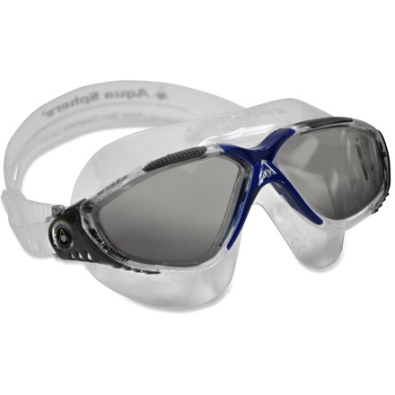 Fitness Keep the sun out of your eyes during open-water swims with the Aqua Sphere Vista Smoke Lens swim goggles. - $39.95