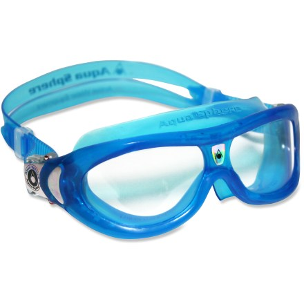 Fitness Aqua Sphere Seal Kid swim goggles are ideal for children or adults with small faces. The flexible frame, watertight fit and easy-adjust buckles offer great performance and comfort. - $4.83