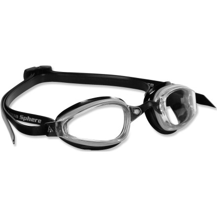 Fitness The Aqua Sphere K-180 Clear Lens swim goggles have asymmetric and anatomic lenses for a watertight fit and great visibility while you're training in the pool or open water. - $17.93