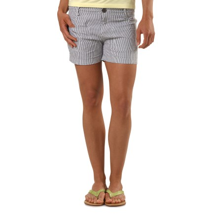 Entertainment The Arbor Railroad shorts will having you feeling like you just boarded the train to comfort town. Soft cotton/viscose from bamboo blend fabric is comfortable in warm weather. Button fly and zipper for easy on. Arbor Railroad shorts feature front hand pockets. - $26.83